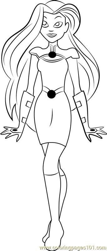 starfire coloring page  dc super hero girls coloring