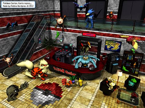 Pokemon Center 3d Kanto Region By Robbienordgren On