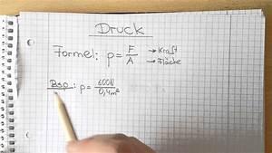 Hubkraft Berechnen : physik druck berechnung die formel youtube ~ Themetempest.com Abrechnung