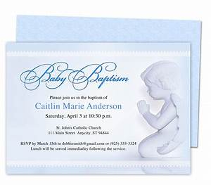 Baby Boy Baptism/Christening Invitations: Printable Angelo ...