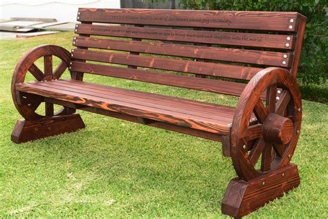 wagon wheel bench custom wagon wheel bench made in u s a duchess outlet