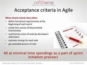 acceptance criteria With agile acceptance criteria template