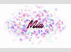 Mia Name Logo Bokeh PNG