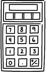 Calculator Coloring Pages Printable Supplies Things Coloringpages101 Pdf sketch template