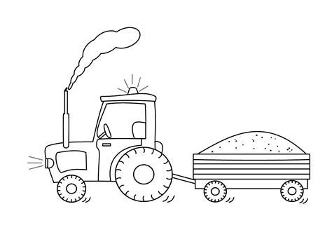 Afbeelding Tractor Kleurplaat by Kleurplaat Trekker Dejachthoorn