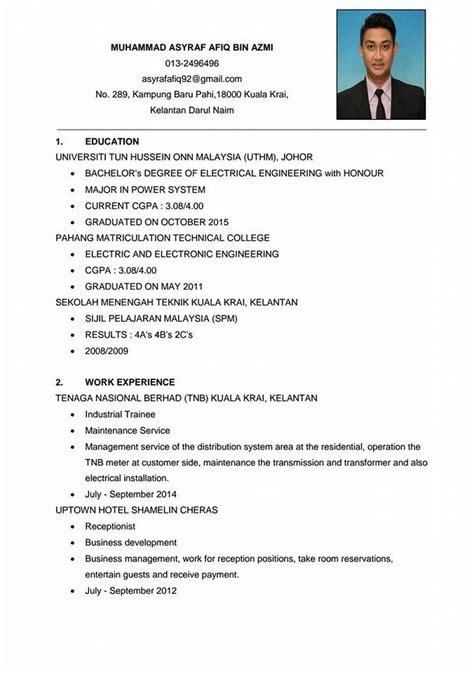contoh resume ringkas terbaik contoh resume terbaik di fitness