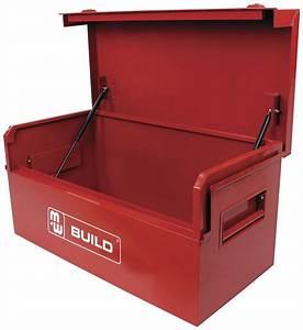 Coffre En Métal : coffre de chantier metal 195 l coffre de chantier mobilier d 39 atelier rangement d 39 outils ~ Teatrodelosmanantiales.com Idées de Décoration