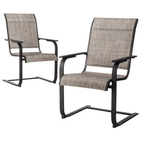 thresholdtm linden 2 sling patio motion dining chair