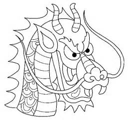chinese dragon head coloring pages - Chinese Dragon Head Coloring Pages