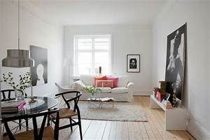 Wohnzimmer Scandi Style : salon comedor peque o 25 ideas que te impresionaran ~ Frokenaadalensverden.com Haus und Dekorationen