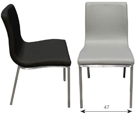 kitchen chairs stainless steel brushed matte satin