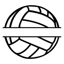 monogram sports balls  personalized clip art