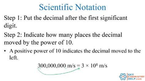 chemistry lesson scientific notation get chemistry help