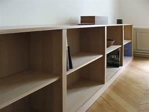 Bibliothèque Basse Bois : meuble biblioth que contemporaine meubles et boiseries ~ Teatrodelosmanantiales.com Idées de Décoration