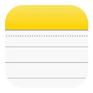 iPhone Notes App Icon