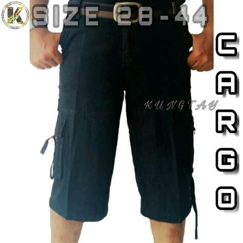 Celana Large Size Wh0106 jual celana pria size 39 40 41 42 43 44 cargo hitam pendek