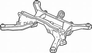 Saturn Vue Suspension Subframe Crossmember  Rear   2 Wheel
