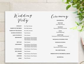 wedding program templates 18 wedding program templates free psd ai eps format free premium templates