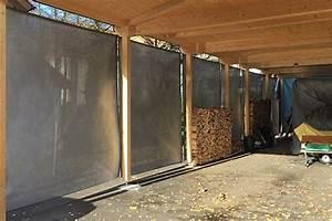 Pavillon Für Balkon : wetterschutz vertikal f r carport und pavillon durch windschutznetze ~ Buech-reservation.com Haus und Dekorationen