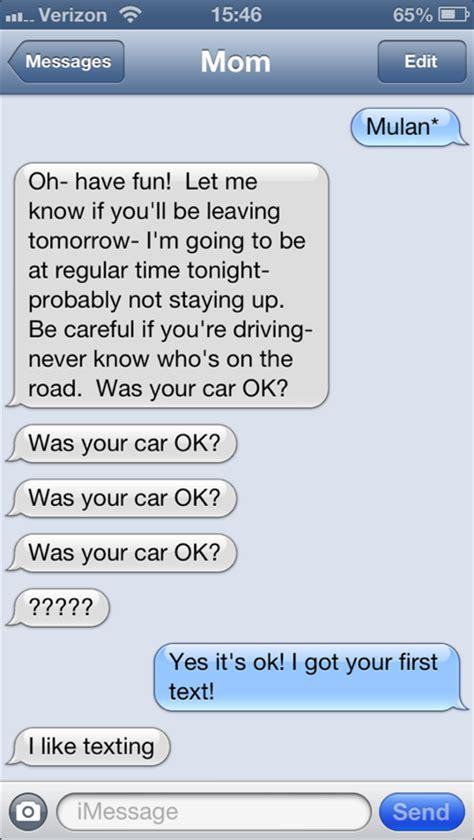 hilariously awkward texts    mom  send