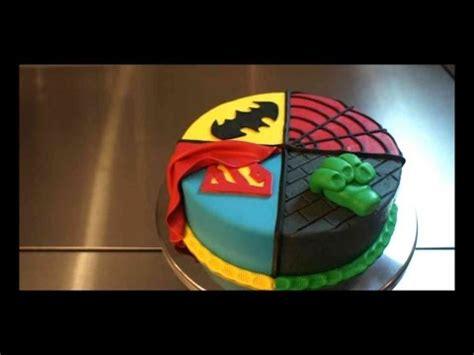 superhelden deko superhelden torte 4 in 1 torten tutorial kuchenfee