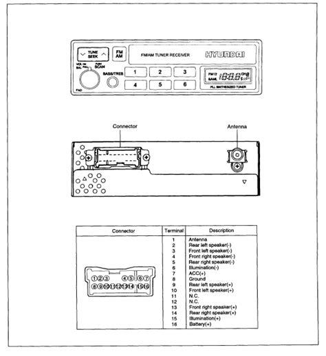 2010 Hyundai Elantra Radio Wiring Diagram by Hyundai Car Radio Stereo Audio Wiring Diagram Autoradio