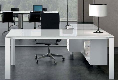 bureau de direction blanc bureau direction en verre blanc ou couleur mobilier de