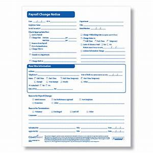 payroll change form for documenting employee payroll changes With payroll change notice form template