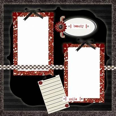 Scrapbook Printable Templates Clipart Template Scrapbooking Transparent