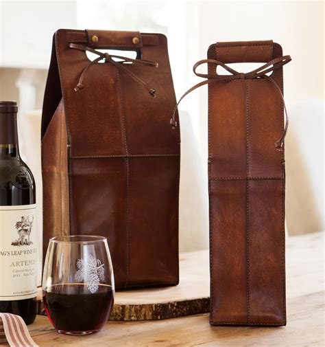 premium kitchen knives leather wine bottle carrier so that 39 s cool