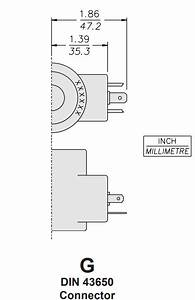 Hydraforce 6356012 Solenoid Valve Coil  3 Prong Din