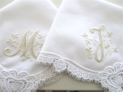 monogram m handkerchiefs initial handkerchief by heart design lace handkerchief with floral design 1
