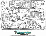 Town Coloring Pages Crayon Preschool Books Scribble Story Learning Worksheet Street Activities Bing Winter Sheets Worksheets Early Crafts Sesame Village sketch template