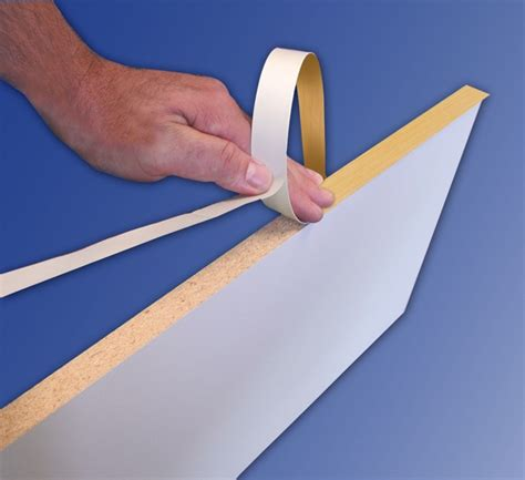 self adhesive cabinet edging tape richelieu 9151625030 fastedge peel stick pvc edgebanding