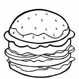 Coloring Pages Burger Cheeseburger Printable Colorings Getdrawings Getcolorings sketch template