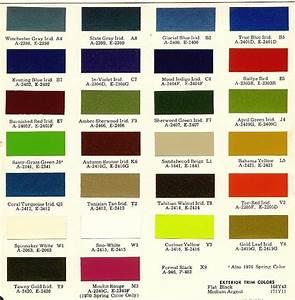 Car Paint Colors Chart Mopar Color Charts