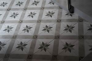 Carrelage Imitation Carreau Ciment : dalle pvc imitation carreau ciment maison design ~ Premium-room.com Idées de Décoration