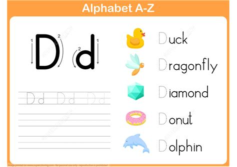 letter d tracing worksheet free printable puzzle