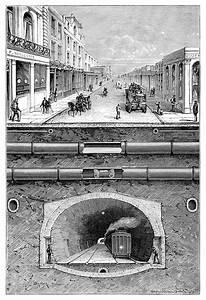 London Underground  U2013 Old Book Illustrations