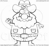 Miner Prospector Clipart Cartoon Waving Chubby Coloring Thoman Cory Outlined Vector 2021 sketch template