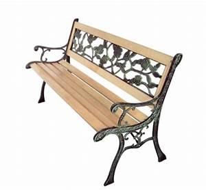 Banc De Jardin En Fonte : banc en bois ~ Farleysfitness.com Idées de Décoration