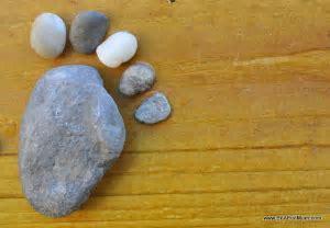 Nature Craft: Rock Footprints   Be A Fun Mum