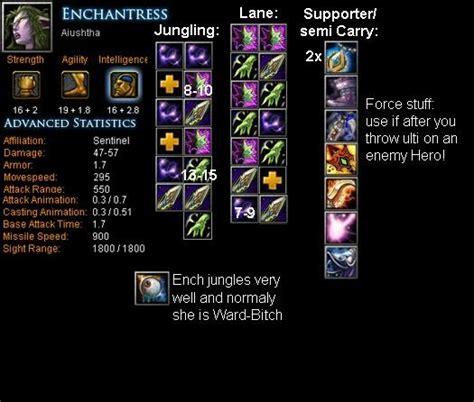 enchantress aiushtha item build skill build tips dota bite feed  dota game