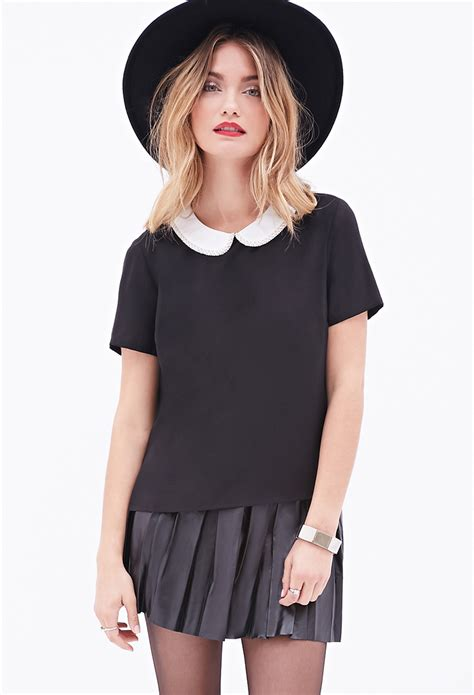 collar blouse forever 21 contemporary beaded pan collar blouse in