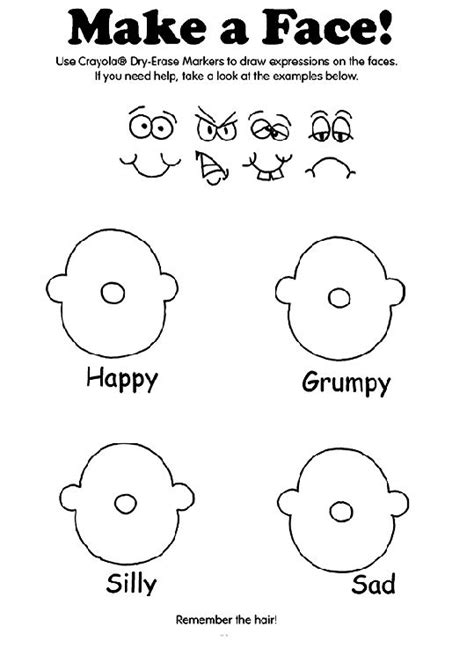 Emotion Faces Coloring Pages