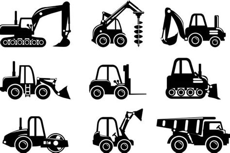 mini excavator clip art vector images illustrations istock