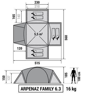 tente familiale 3 chambres tente de cing familiale arpenaz 6 3 i 6 personnes