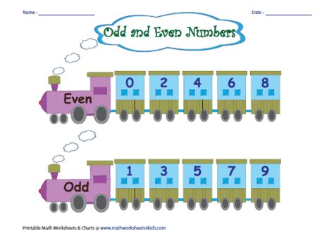 Odd And Even Number  Charts And Activities