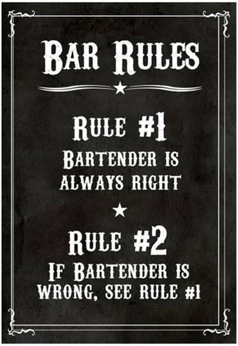 the hangover poster customize template bar rules the bartender is always right sign art print