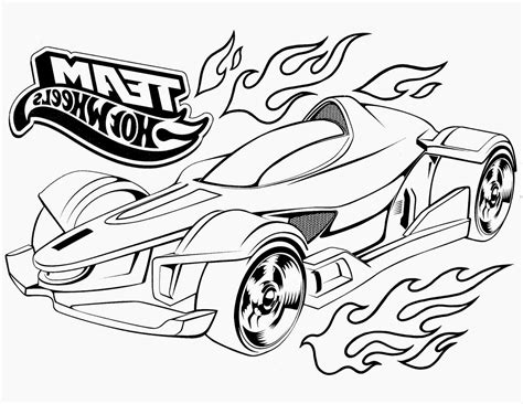 Good Looking Car Hot Wheels Coloring Page Kids Pages